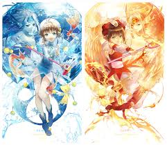 fanart sakura and some of her cards cardcaptor sakura anime