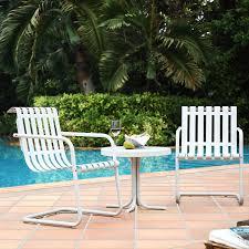 Griffith Metal Outdoor Furniture by Amazon Com Crosley Furniture Gracie 3 Piece Retro Metal Outdoor
