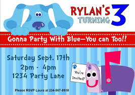party games personalized printables blues clues party kit