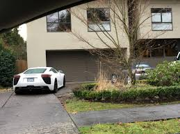 lexus dealers in vancouver area lexus lfa just sitting in the driveway spotted