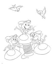 cinderella mouse coloring pages mice colouring cinderella