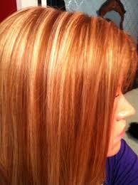 natural red hair with highlights and lowlights red hair with blonde highlights creations by bethany me
