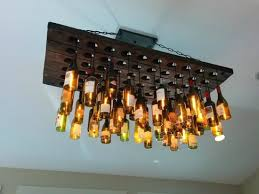 Unusual Wine Bottles Unique Ceiling Light Fixture Made From Wine Bottles Picture Of