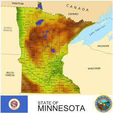 Minnesota Map The Good U0026 Bad Of Mn Jobs Data Minnesota Brown