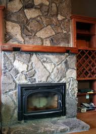staining natural stone fireplace home design ideas