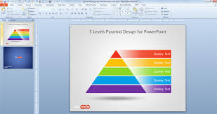 pyramid powerpoint template free 5 level pyramid template for