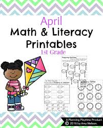 first grade worksheets for spring planning playtime