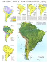 physical map of south america map