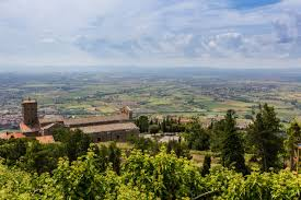 Cortona Italy Map by Florence To Rome Cycling Holiday Via Perugia Assisi And Spoleto