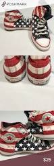 Converse American Flag Shoes Converse American Flag High Tops High Tops Converse And Flags
