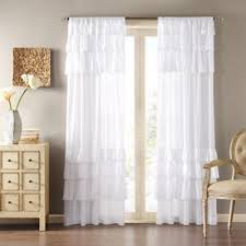 White Ruffle Curtains Buy White Ruffle Curtains From Bed Bath Beyond