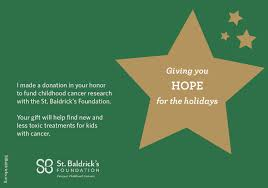 hope for the holidays give the gift of childhood cancer research