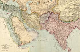 Southwest Asia Physical Map by Southwest Asia 1912 Vivid Maps