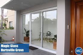 aluminum sliding window magic glass
