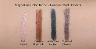 the maybelline color tattoo addition ft the concentrated crayons