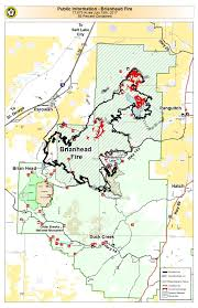 Map St George Utah by Brian Head Fire Slowly Moves Toward Extinguishment U2013 St George News