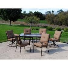 Mainstays Crossman 7 Piece Patio Dining Set Green Seats 6 Hd Designs Outdoors Napa 7 Piece Patio Set Patio Decorating