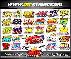 gambar desain nomer racing desain nomor start stiker motor striping motor suka suka decal