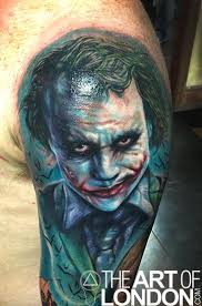 realistic 3d batman joker tattoo photo 2 photo pictures and