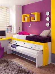 fascinating yellow and grey kids bedroom with toys