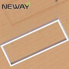 Led Lighting Fixture Manufacturers Rectangle Commercial Modern Office Pendant Linear Led Warm White