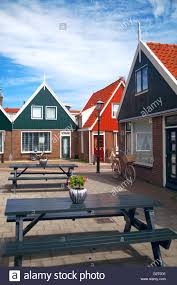 vintage dutch town of volendam european evening retro style