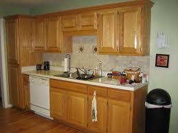 oak cabinet kitchen ideas lighting light oak cabinets with granite countertops best wall
