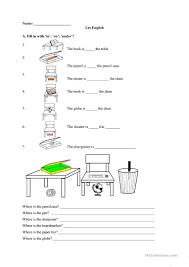 Preposition Practice Worksheets In On Under Worksheet Free Esl Printable Worksheets Made By Teachers