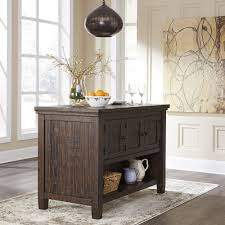 counter table with storage trudell dark brown rect counter table w storage d658 65 pub