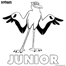 storks junior coloring pages printable