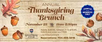 thanksgiving brunch menu dining the speedway club