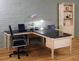 Office Desk With Glass Top Unsurpassed Ways To Distribute L Shaped Office Desks Home Design