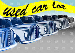 vintage cars clipart used car lot row of old parked cars vector clipart image 38614