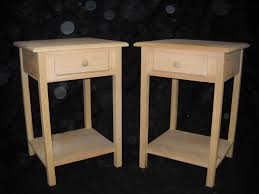 Nightstand With Shelf Creative Of Nightstand With Shelf Unfinished Pine Furniture Ebay