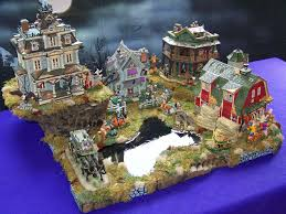 hawthorne village halloween zubya creative village display platforms and ideas about us
