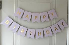 pastel purple happy birthday bunting banner birthday decorations