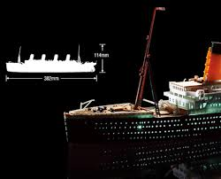 academy rms titanic led set 1 700 scale plastic model ship kit