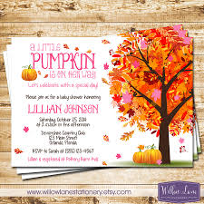 little pumpkin baby shower invitation pink autumn fall