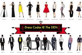 dress codes the den