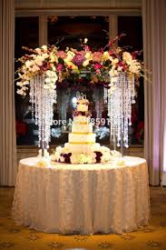 wedding table flower centerpieces 100cm tall 3 tiers crystal bead wedding table flower centerpiece and