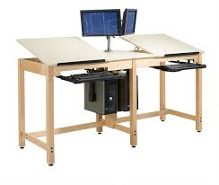 Drafting Table Images Shain Two Station Cpu Drafting Table Cdtc 73 Drafting Tables