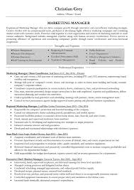 marketing manager resume exles marketing manager resume sles and writing guide 10 exles