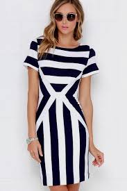 blue and white striped bodycon dress naf dresses