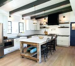 kitchen island diverse kitchen with recovered wood cabinets and