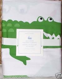 Pottery Barn Kids Shower Curtains Pottery Barn Kids Alligator 72 Square Fabric Shower Curtain New
