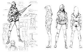 wolf sketch characters u0026 art metal gear solid