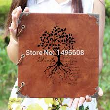 leather photo albums engraved personalized engraved photo album custom lovetree wedding guest