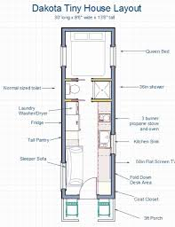 tiny floor plans 8 x 19 tiny house floor plans with loft above stairs or tiny home