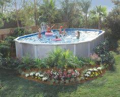 Landscaping Around Pool No Deck No Problem You Can Add Landscaping Around The Bottom Of