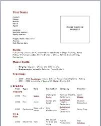 Full Resume Template Acting Resume Template No Experience Http Wwwresumecareer